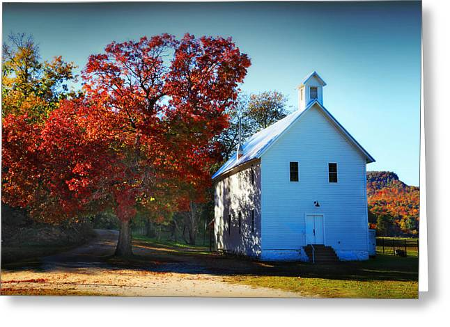 Boxley Valley Greeting Cards - Boxley Valley Church Greeting Card by Tony  Colvin