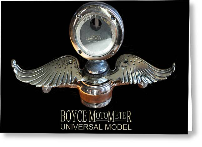 Coolant Greeting Cards - Boyce MotoMeter Greeting Card by Jack Pumphrey