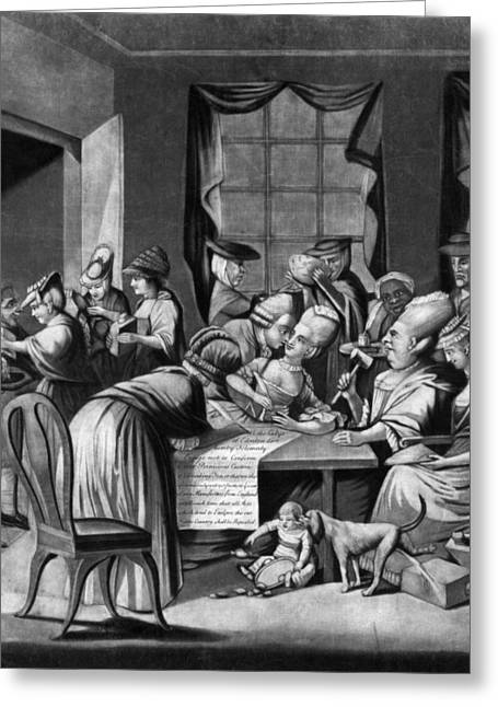 Slave Society Greeting Cards - Boycott Of British Tea Greeting Card by Granger