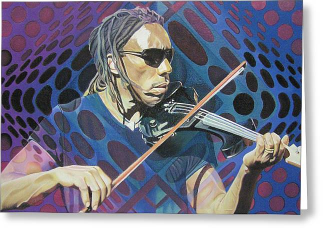 Dave Greeting Cards - Boyd Tinsley Pop-Op Series Greeting Card by Joshua Morton