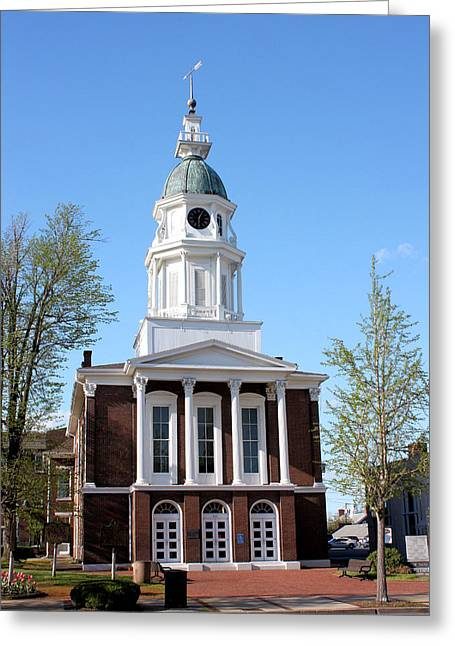 Boyle Greeting Cards - Boyle County Courthouse 1 Greeting Card by Kristin Elmquist