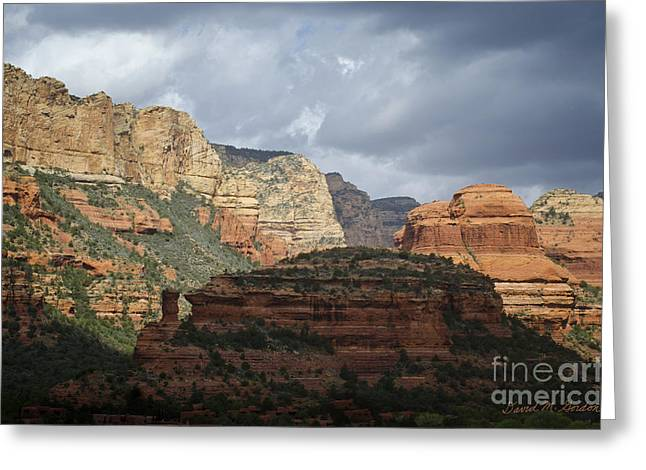 Elevation Digital Art Greeting Cards - Boynton Canyon III Greeting Card by David Gordon