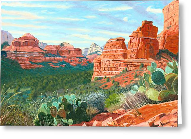 Boynton Greeting Cards - Boynton Canyon Greeting Card by Steve Simon