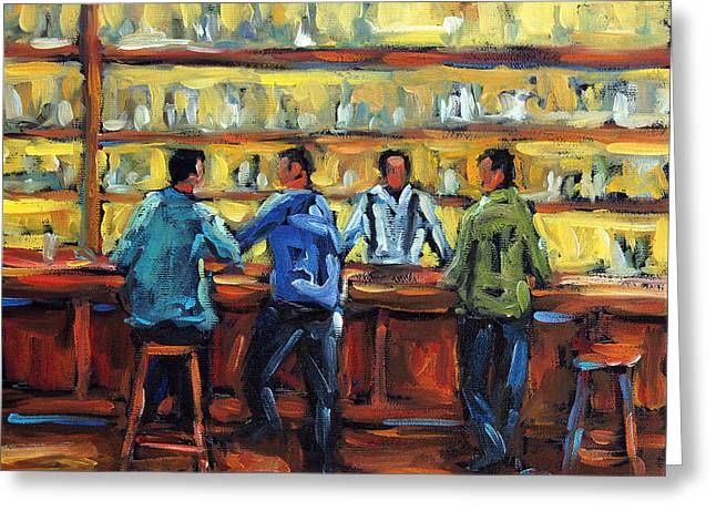 Canadian Rural Scene Created By Richard T Pranke Greeting Cards - Boys Night Out by Prankearts Greeting Card by Richard T Pranke