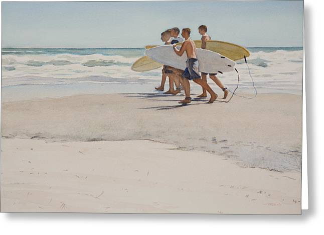 California Beach Greeting Cards - Boys Of Summer Greeting Card by Christopher Reid