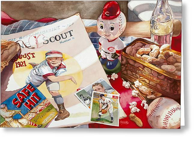 Boys Of Summer Greeting Card by Judy Koenig