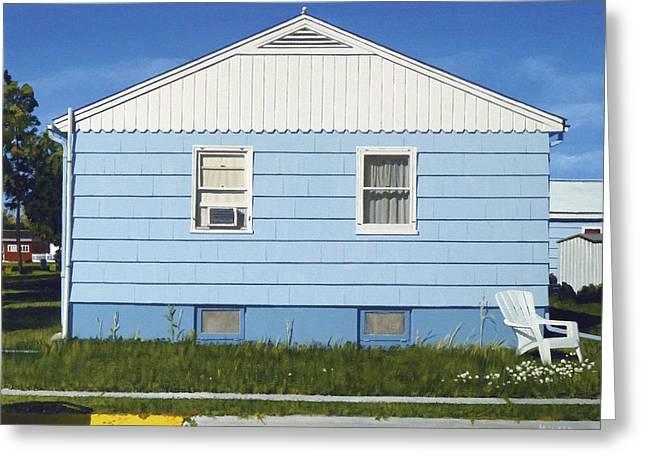 Photorealism Greeting Cards - Bozeman House Three Greeting Card by Michael Ward