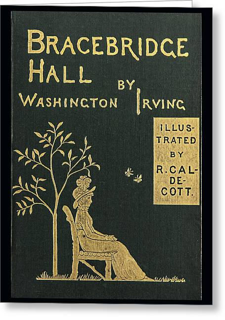 Book Cover Art Greeting Cards - Bracebridge Hall Greeting Card by Jack R Perry