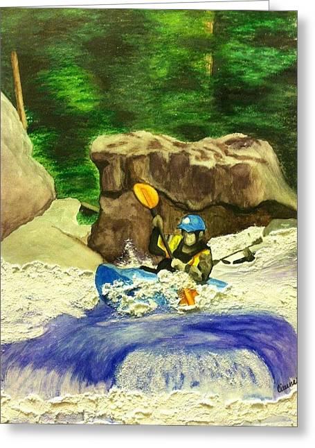 Kayak Mixed Media Greeting Cards - Bracewell Greeting Card by Cireena Katto