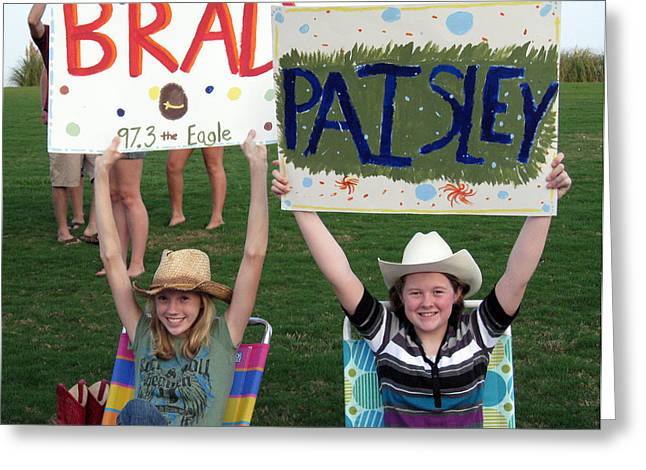 Lawn Chair Greeting Cards - Brad Paisley Fans Greeting Card by Brenda Dorman