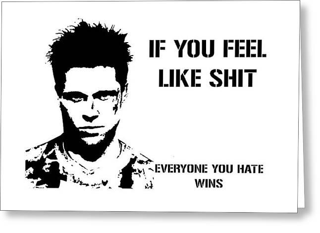 Brad Pitt In Fight Club Greeting Card by Movie Prints