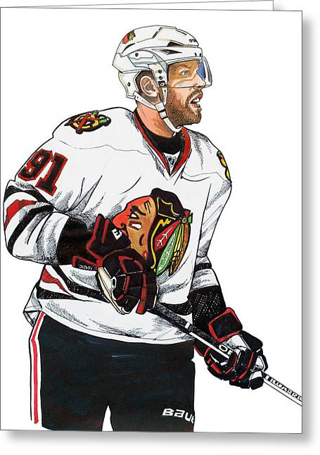 Brad Richards Greeting Cards - Brad Richards Greeting Card by Dave Olsen