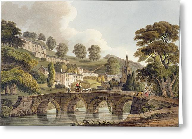 Printed Greeting Cards - Bradford, From Bath Illustrated Greeting Card by John Claude Nattes