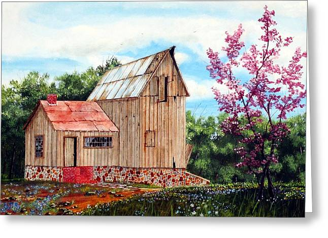 Stepping Stones Greeting Cards - Bradfords Barn Greeting Card by Michael Dillon