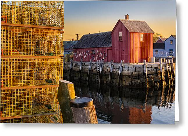 Maritime Greeting Cards - Bradley Wharf Motif #1 Greeting Card by Susan Candelario