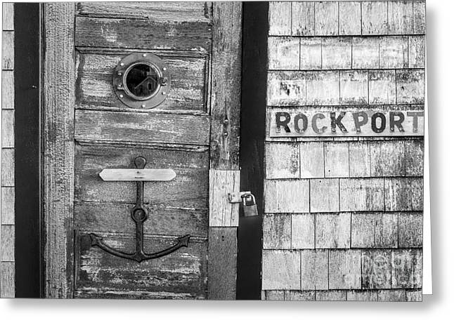 Iconic Greeting Cards - Bradley Wharf Rockport BW Greeting Card by Susan Candelario