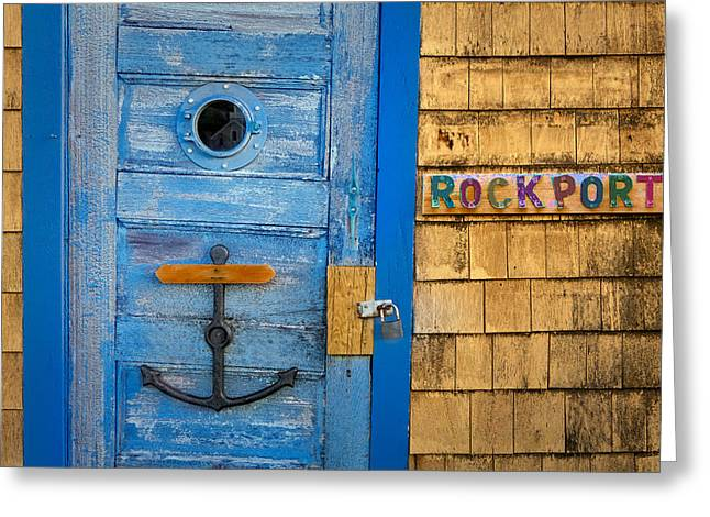 Motif Number One Greeting Cards - Bradley Wharf Rockport Greeting Card by Susan Candelario