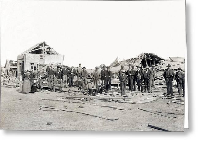 Bradshaw Tornado Ruins Greeting Card by Underwood Archives