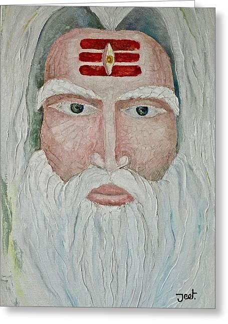God Reliefs Greeting Cards - Brahma Greeting Card by Arijeet Chanda