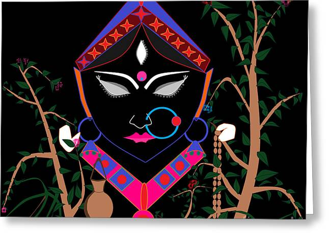 Hindu Goddess Digital Greeting Cards - Brahmacharini Greeting Card by Pratyasha Nithin