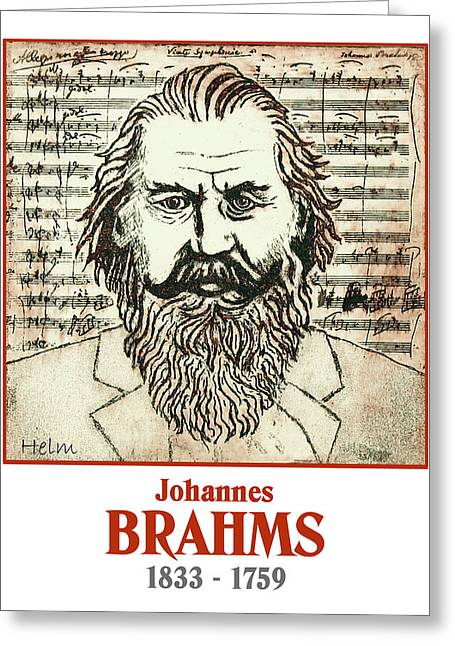Brahms Greeting Cards - Brahms Greeting Card by Paul Helm