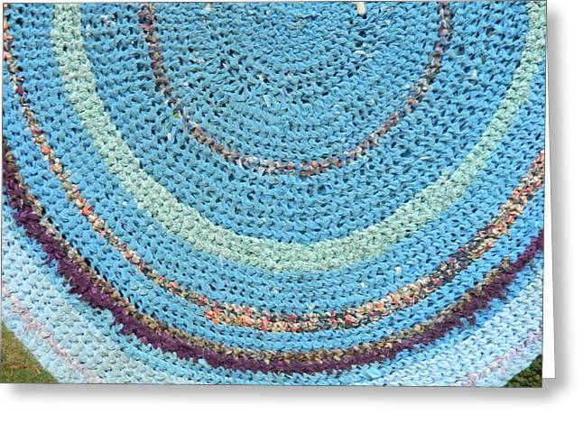 Braided Rugs Greeting Cards - Braided Blues Greeting Card by Michele Coe