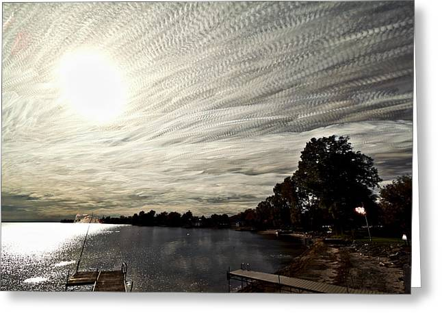 Time Stack Greeting Cards - Braided Sky Greeting Card by Matt Molloy