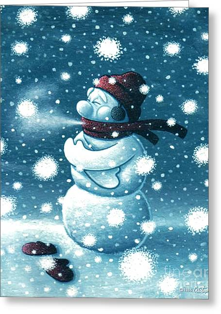 Brain Freeze Greeting Card by Cristophers Dream Artistry