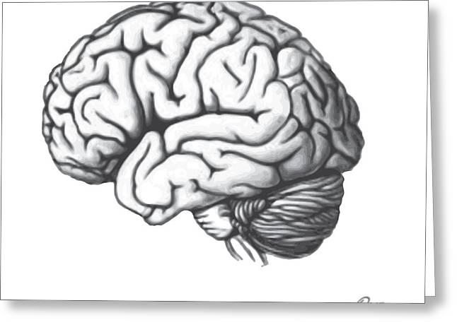 Brain Shift Greeting Card by Del Gaizo