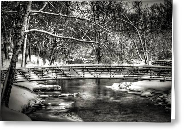 Winter Park Greeting Cards - Brainards Bridge After a Snow Storm 3 Greeting Card by Thomas Young