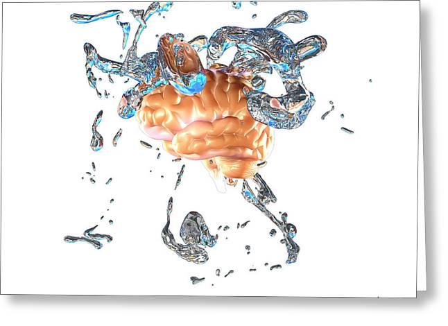 Brainwashing Greeting Card by Christian Darkin