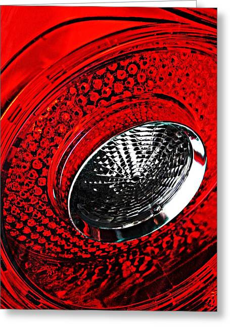 Sarah Loft Greeting Cards - Brake Light 3 Greeting Card by Sarah Loft