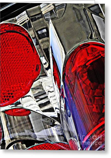 Sarah Loft Greeting Cards - Brake Light 35 Greeting Card by Sarah Loft