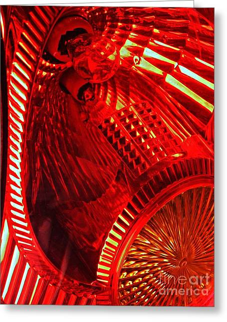 Sarah Loft Greeting Cards - Brake Light 42 Greeting Card by Sarah Loft