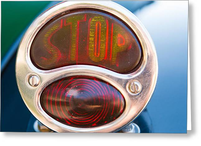Stop Light Greeting Cards - Brake light classic car Citroen Typ C 5HP Greeting Card by Matthias Hauser