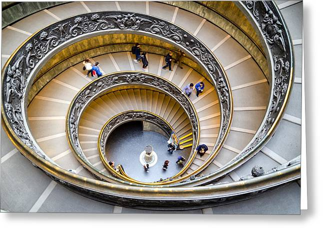 Helix Greeting Cards - Bramante Spiral Staircase in Vatican City Greeting Card by Pablo Lopez