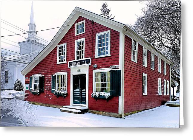 Historic Country Store Greeting Cards - Bramhalls Country Store Greeting Card by Janice Drew