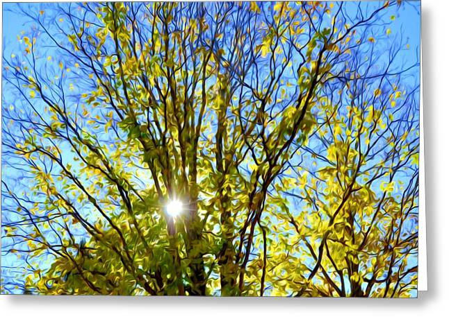 Branch Greeting Cards - Branch Of Beautiful Autumn Leaves 4 Greeting Card by Lanjee Chee