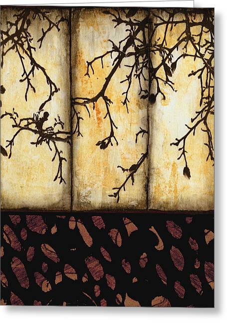 Nature Collage Greeting Cards - Branching Greeting Card by Ann Powell