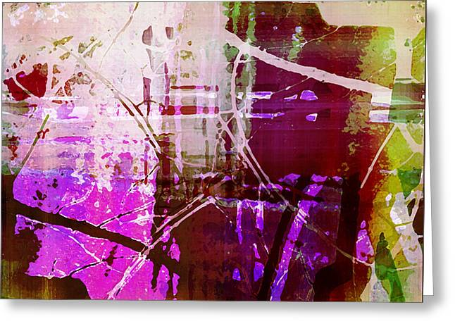 Abstract Movement Greeting Cards - Branching Out Greeting Card by Shawna  Rowe
