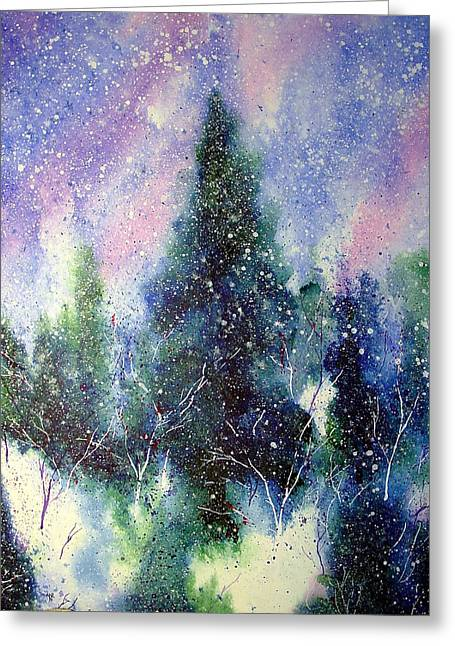 Solstice Greeting Cards - Branching Paths of Snow Greeting Card by Nelson Ruger