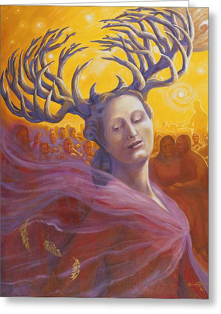 Individualistic Greeting Cards - Branching Woman Greeting Card by Brenda Ferrimani
