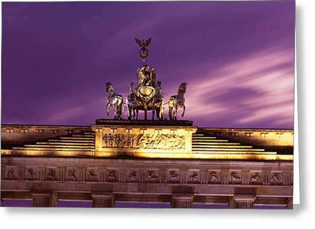 Horse Images Greeting Cards - Brandenburg Gate, Berlin, Germany Greeting Card by Panoramic Images