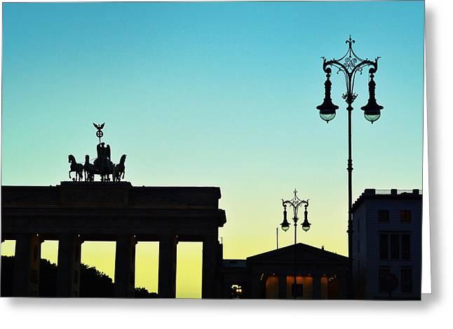 Deutschland Mixed Media Greeting Cards - Brandenburg Gate Greeting Card by Gynt