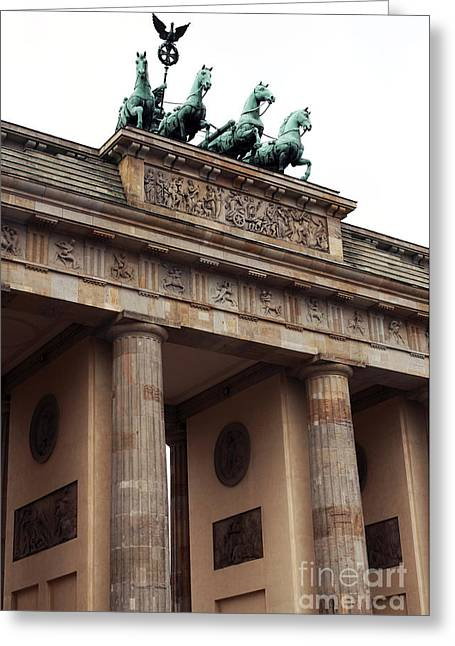 Sculpture For Sale Greeting Cards - Brandenburg Gate Greeting Card by John Rizzuto