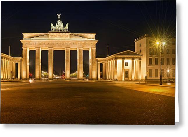 Brandenburg Gate Panoramic Greeting Card by Melanie Viola