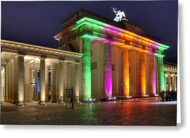 Tor Pyrography Greeting Cards - Brandenburger Tor Greeting Card by Steffen Gierok