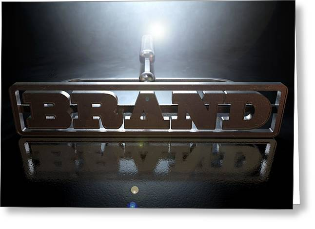 Backlit Greeting Cards - Branding Brand Concept Greeting Card by Allan Swart