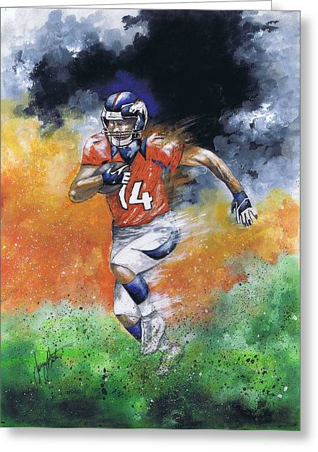 Brandon Stokley Greeting Card by Jerry Bates