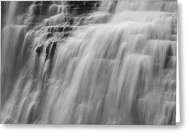 Cvnp Greeting Cards - Brandywine Falls BnW Greeting Card by Claus Siebenhaar